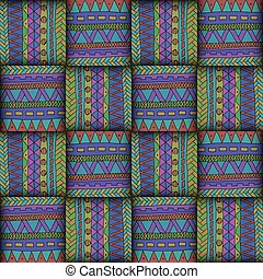 Seamless background. Wicker color pattern.