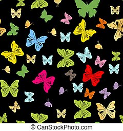 Seamless background with abstract butterflies. vector illustration