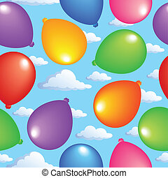 Seamless background with balloons 2