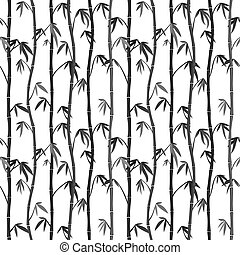Seamless background with bamboo stems