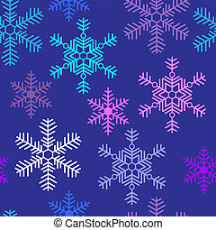 Seamless background with beautiful snowflakes Christmas