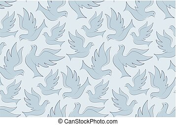 Seamless background with birds.