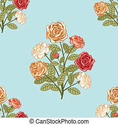seamless background with bouquet of flowers