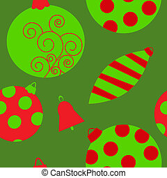 Seamless background with bright christmas toys