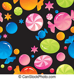 sweets and sugar candies - Seamless background with bright ...