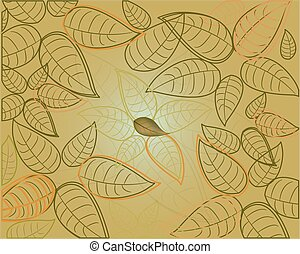 seamless background with brown leaves