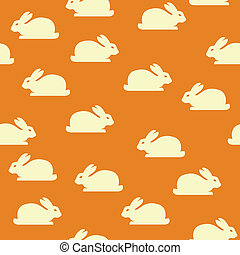 Seamless background with bunnies