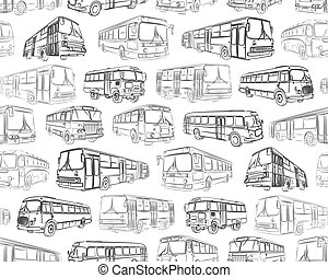 Seamless background with bus.