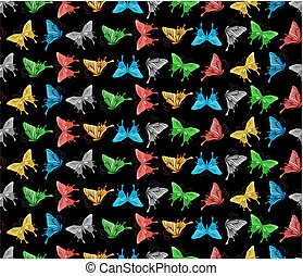 Seamless background with butterflies.