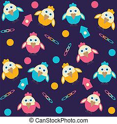 background with cartoon birds