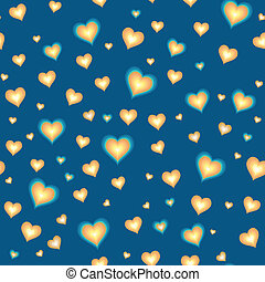 Seamless background with cartoon hearts
