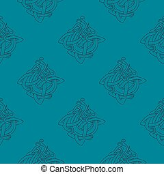 Seamless background with Celtic art and ethnic ornaments for your design