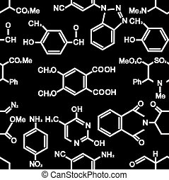 Seamless background with chemistry elements