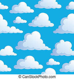 Seamless background with clouds 3 - vector illustration.