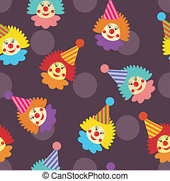 seamless background with clowns