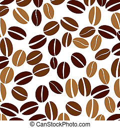 coffee beans - Seamless background with coffee beans
