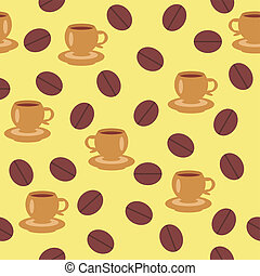 seamless background with coffee
