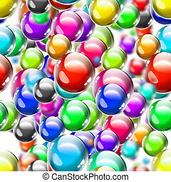 balls - seamless background with colorful bright balls