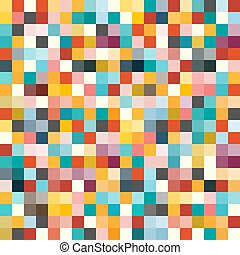 Seamless Background with Colorful Cubes. Vector...