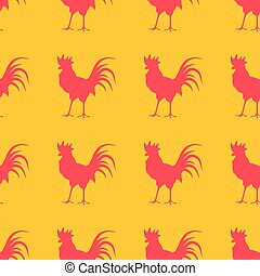 Seamless background with colorful poultry.