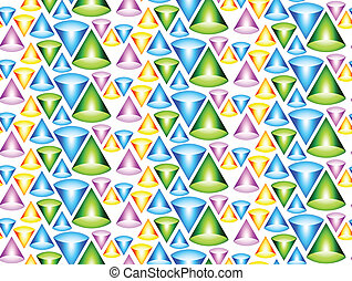 Seamless background with cones