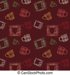 Seamless background with cups