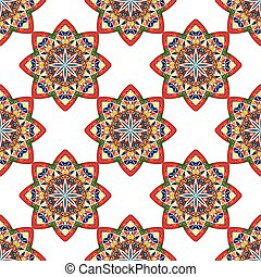 seamless background with ethnic elements of Oriental