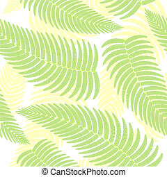Seamless background with ferns.