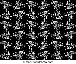 Seamless background with floral patterns