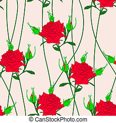Seamless  background with flower roses.