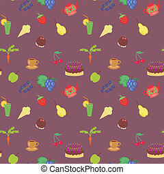 seamless background with food