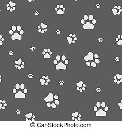 Seamless background with footprint of cat and dog