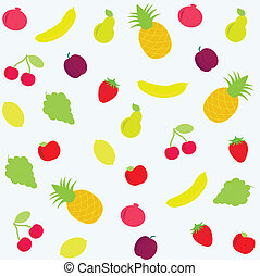 background with fruits