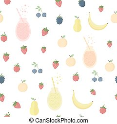 Seamless background with fruits