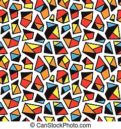 seamless background with geometric shapes