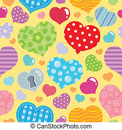 Seamless background with hearts 8