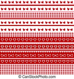 Seamless background with hearts and tablecloth.eps