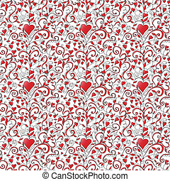 Seamless background with hearts ornament