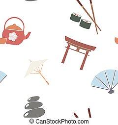 background with Japanese symbols