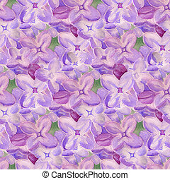 Seamless background with lilac flowers