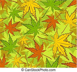 Seamless background with maple leaves.