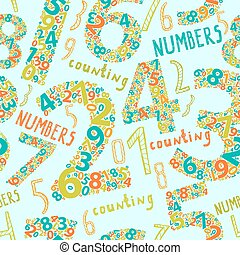 seamless background with numbers