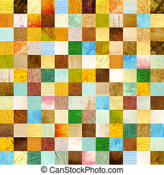 Seamless background with paper patterns of different colors