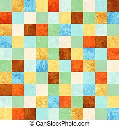 Seamless background with paper patterns