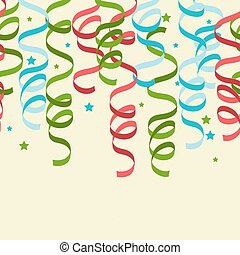 Seamless background with party streamers vector illustration