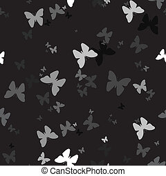 Seamless background with pattern of butterfly
