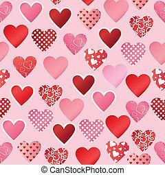 pattern paper heart
