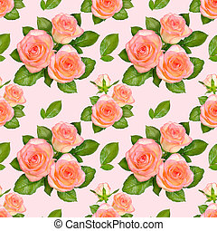 Seamless background with Pink roses
