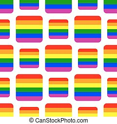 Seamless background with Rainbow