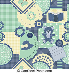 seamless background with scrapbook